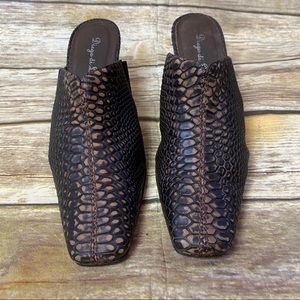 Diego di Lucca Made in Brazil Snakeskin Mules 10